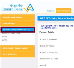 Canara Bank netBanking