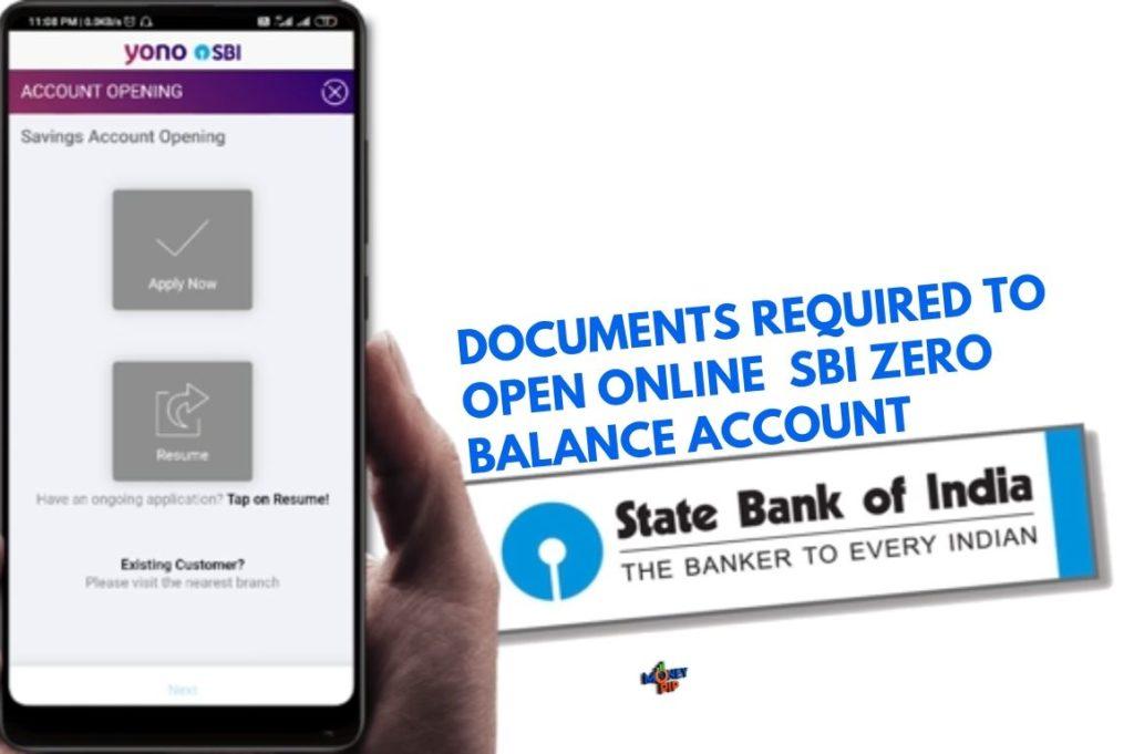 sbi zero balance account