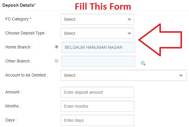 Open Fixed Deposit in Canara Bank