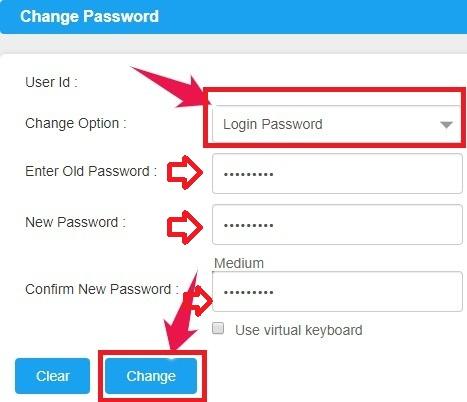 Change Canara Bank NetBanking Password