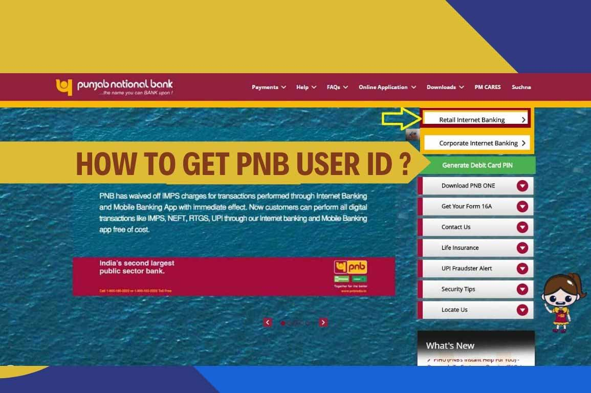 HOW TO GET PNB USER ID?
