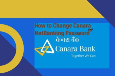 How to Change Canara NetBanking Password