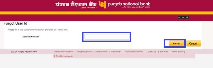 Reset PNB Net Banking Password