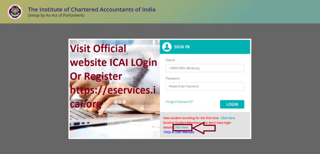 ICAI Login & ICAI Register