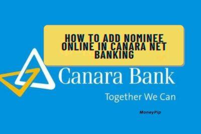 Nominee add online in canara net banking