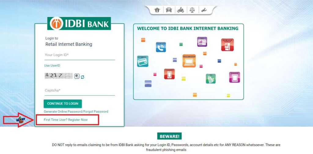 IDBI Internet Banking3
