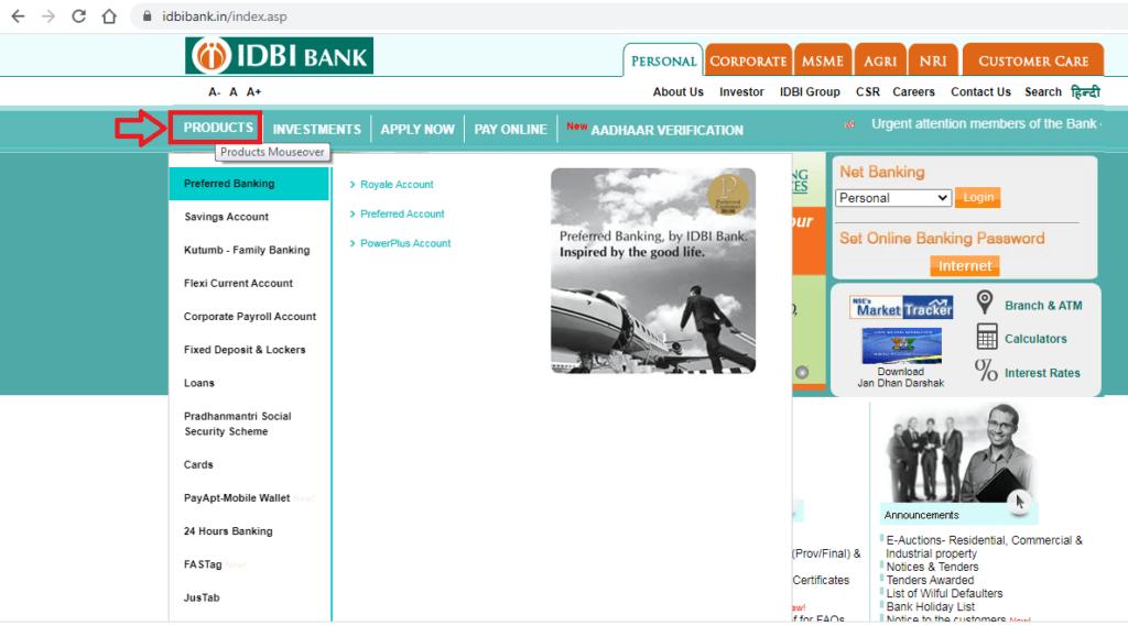 IDBI Zero Balance Saving Account Open 3