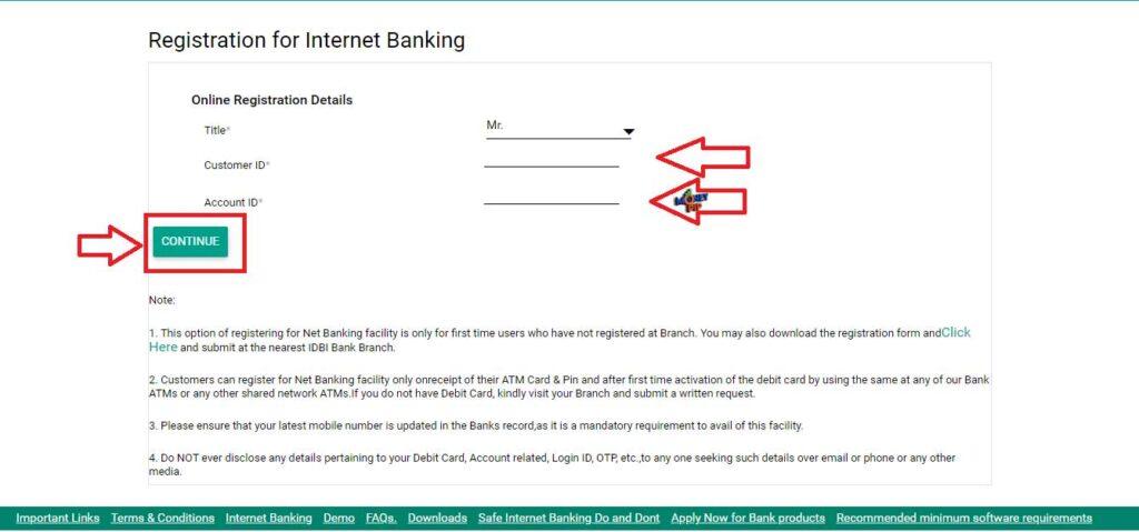 IDBI Internet Banking4.2
