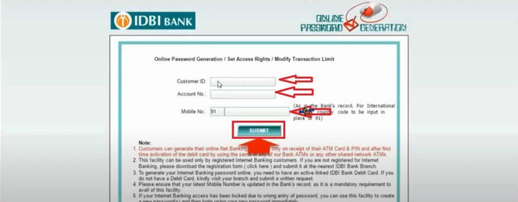 IDBI Internet Banking4