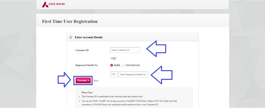 Axis Net Banking Register 3