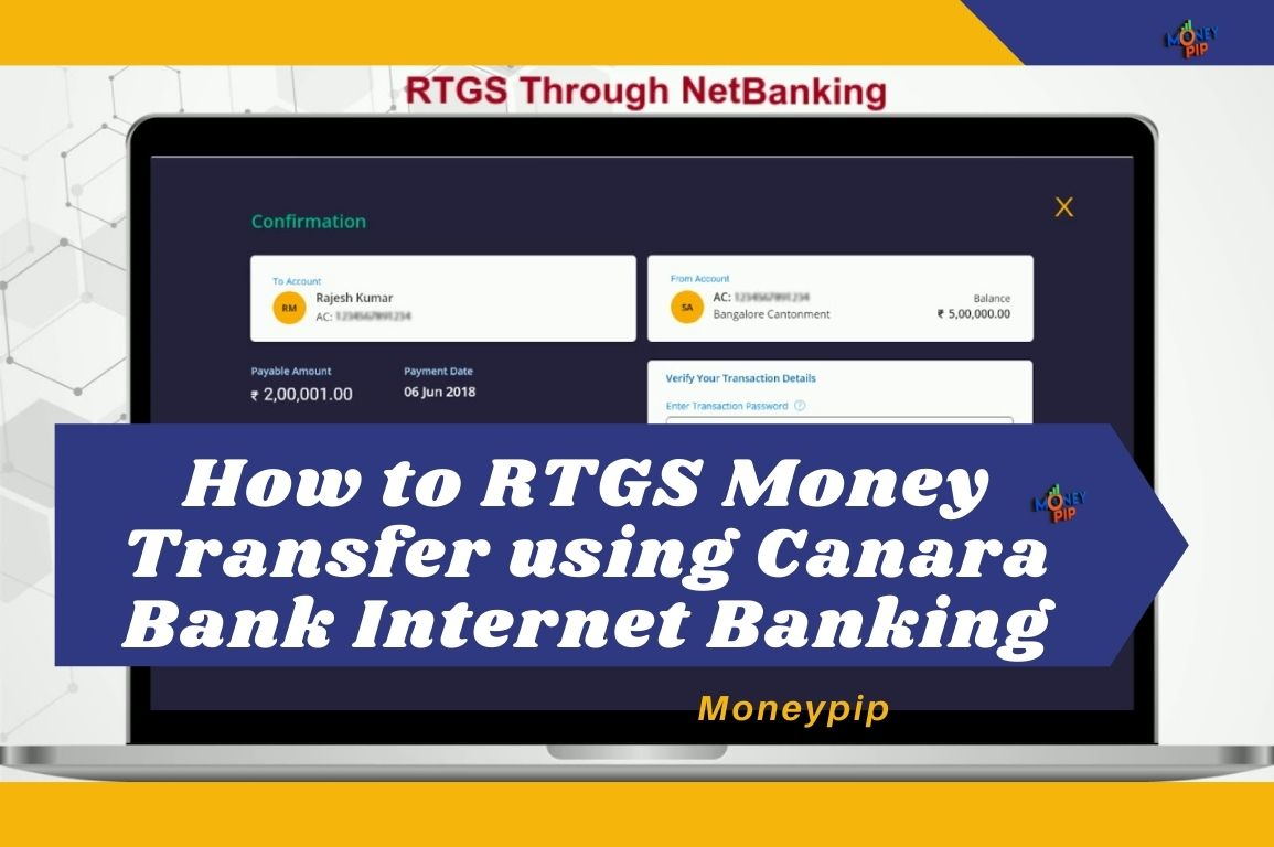 RTGS Money Transfer Using Canara Net Banking