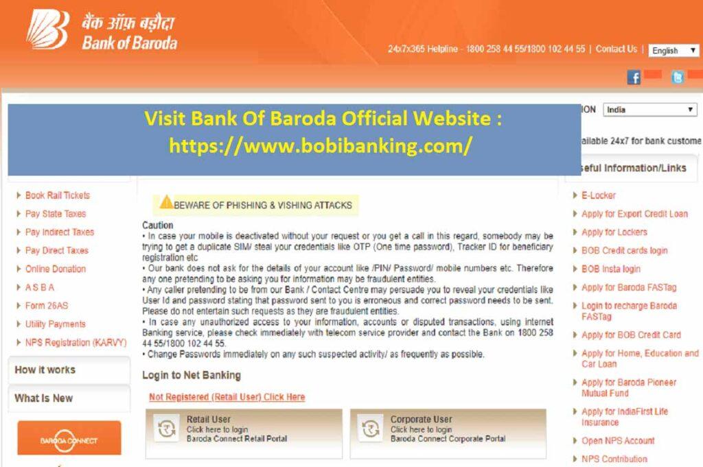 BOB Net Banking 1