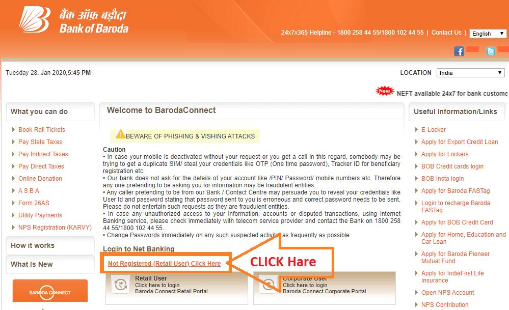 BOB Net Banking 2