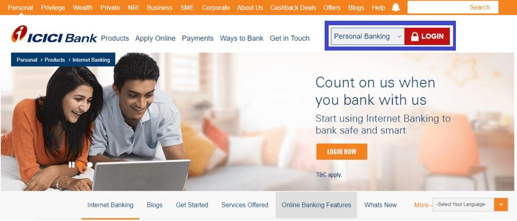 ICICI Internet Banking Reg 1