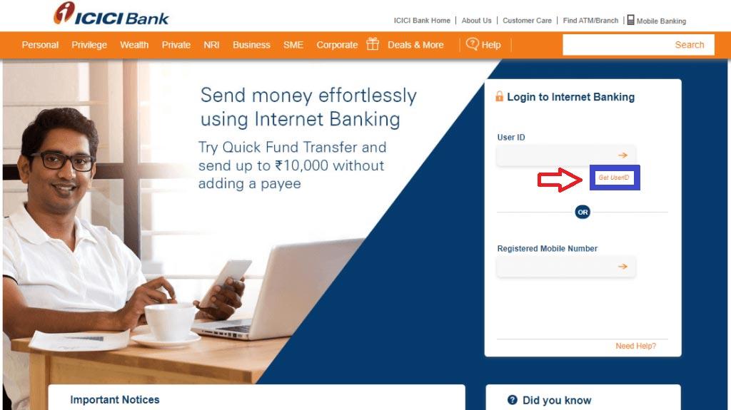 ICICI Internet Banking Reg 2
