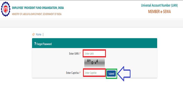 How to reset uan password2