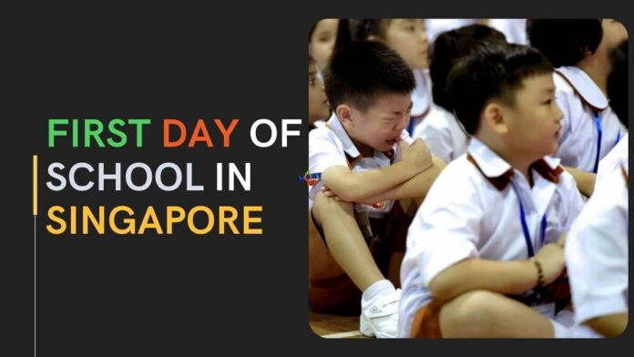First day of School in Singapore