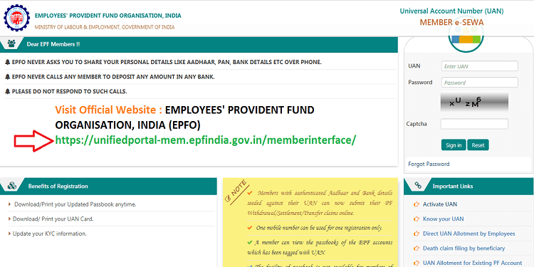 How to Register Mobile Number in EPF Account Online 1