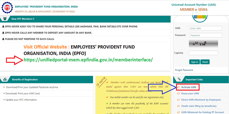 How to Register Mobile Number in EPF Account Online 2