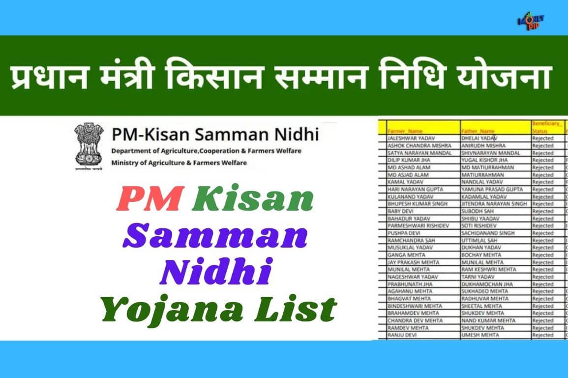PM Kisan Samman Nidhi Yojana List
