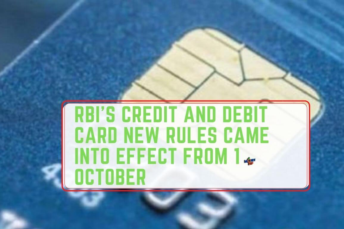 RBI's credit and debit card new rules