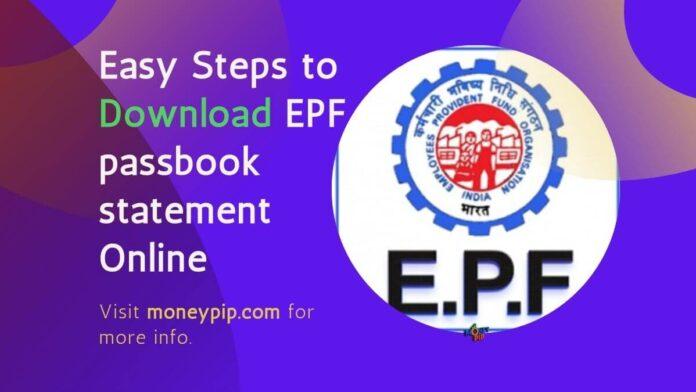 Download EPF passbook statement online