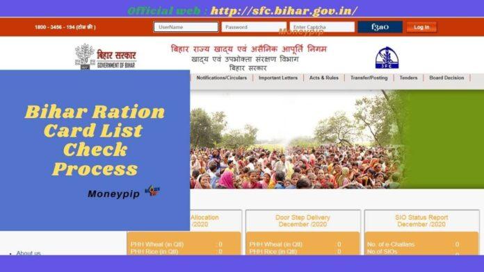 Bihar Ration Card [sfc.bihar.gov.in]