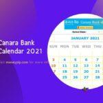 Canara Bank Calendar 2021