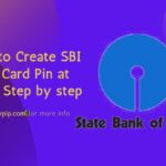 Create SBI Debit Card Pin