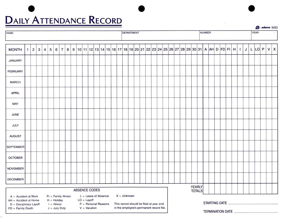 Labour Attendance Register